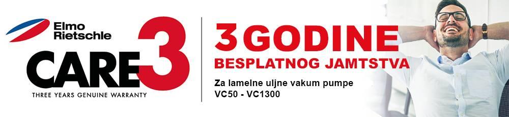 Elmo Rietschle lamelne uljne vakum pumpe VC50 - VC1300 dolaze s 3 godine besplatnog jamstva