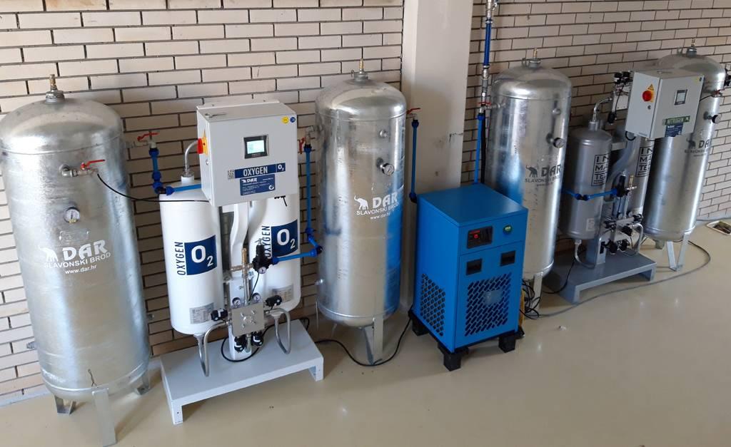 Linije za kisik ili dušik, generator kisika, generator dušika